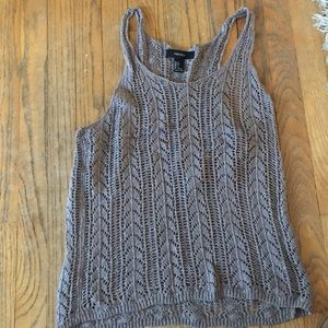 Brown knitted tank